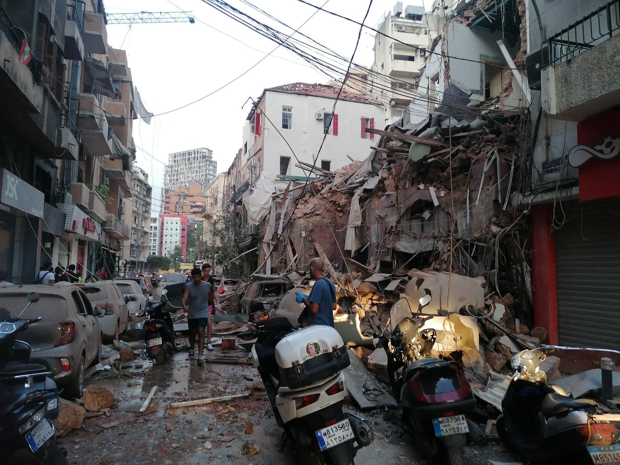 Kondisi Beirut, ibu kota Lebanon pasca ledakan