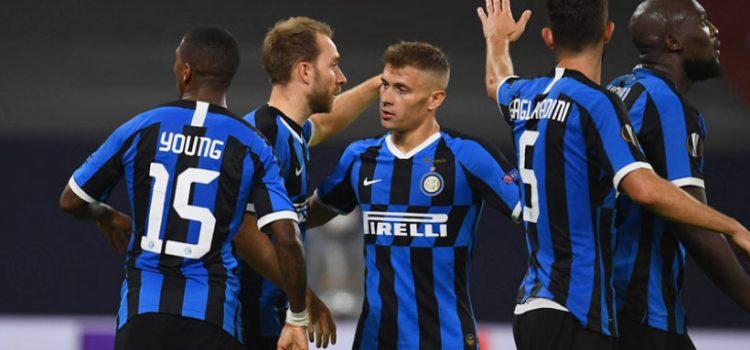 Selebrasi pemain Inter Milan kala sukses menjebol gawang Getafe