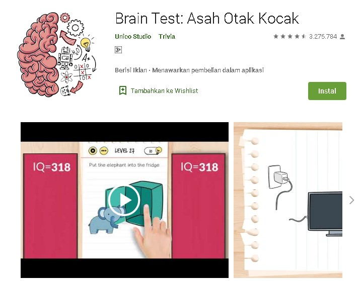 Kunci jawaban brain test level 1-270